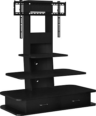 "Ajax TV Stand with Mount and Drawers  Ajax TV Stand with Mount and Drawers for TVs up to 70"", Black, , large"