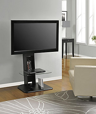 "Ajax TV Stand with Mount  Ajax TV Stand with Mount for TVs up to 50"", Black, , rollover"