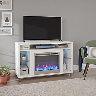 "Norton Fireplace TV Stand Norton Fireplace TV Stand for TVs up to 48"", White, , rollover"