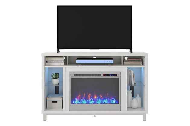 "Norton Fireplace TV Stand Norton Fireplace TV Stand for TVs up to 48"", White, , large"