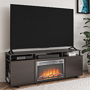 "Paisley Fireplace TV Stand Paisley Fireplace TV Stand for TVs up to 65"", Espresso, , rollover"