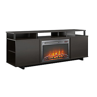 "Paisley Fireplace TV Stand Paisley Fireplace TV Stand for TVs up to 65"", Espresso, , large"