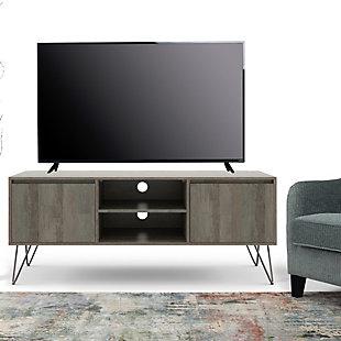 "Hunter Mango Wood 60"" Contemporary TV Stand, , rollover"