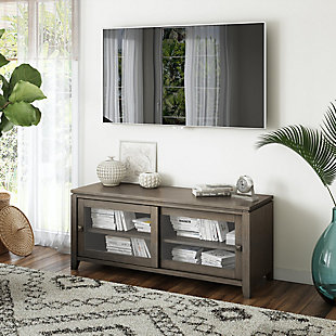 "Cosmopolitan Solid Wood 48"" Contemporary TV Stand, , rollover"