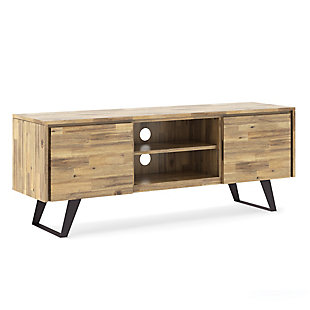 """Lowry 63"""" Modern TV Stand, Light Brown, large"""