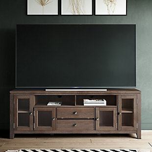 "Cosmopolitan Solid Wood 72"" Contemporary TV Stand, , rollover"