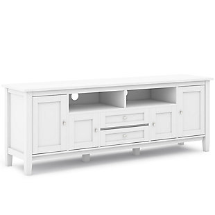 """Rustic 72"""" TV Stand, White, large"""