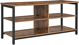 Rustic TV Stand with 4 Shelves, , large
