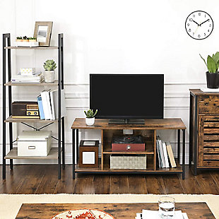 Rustic TV Stand With Open Storage, , rollover