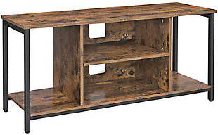 Rustic TV Stand With Open Storage, , large