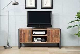 """Norton 60""""  Reclaimed Wood and Metal TV Stand, , rollover"""