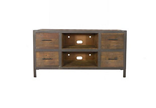 Reese  Reclaimed Wood 4 Drawer TV Stand, , large