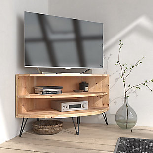 """Cambria 43""""  Reclaimed Wood Corner Media Stand, , rollover"""