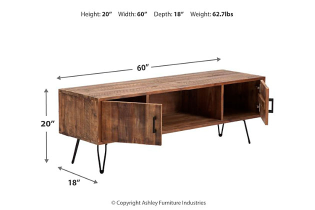 "Castro Hairpin Leg 60"" TV Stand, , large"