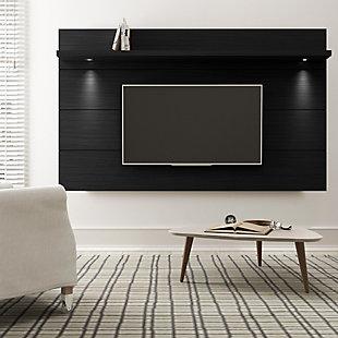 Manhattan Comfort Cabrini Floating Wall TV Panel 2.2 in Black Matte, , rollover