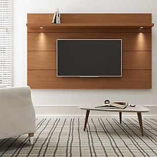 Manhattan Comfort Cabrini Floating Wall TV Panel 2.2 in Maple Cream, , rollover