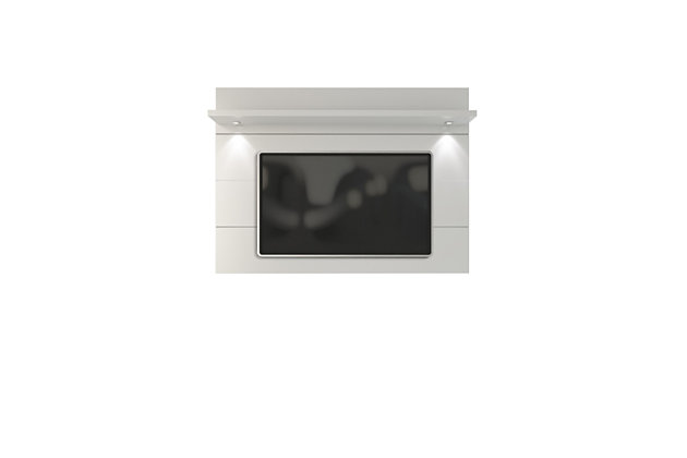 Manhattan Comfort Cabrini Floating Wall TV Panel 1.8 in White Gloss, , large