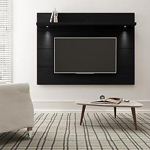 Manhattan Comfort Cabrini Floating Wall TV Panel 1.8 in Black Matte, , large
