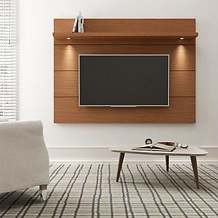 Manhattan Comfort Cabrini Floating Wall TV Panel 1.8 in Maple Cream, , rollover