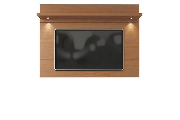 Manhattan Comfort Cabrini Floating Wall TV Panel 1.8 in Maple Cream, , large