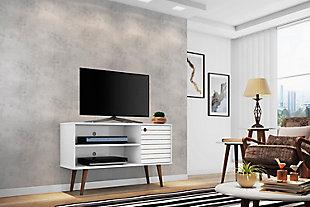 Manhattan Comfort Liberty TV Stand 42.52 in White, White, rollover