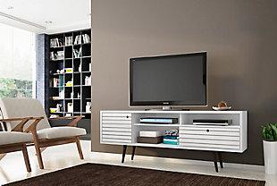 "Manhattan Comfort Liberty 70.86"" TV Stand in White, White, rollover"