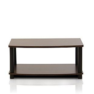 Turn-N-Tube No Tools 2-Tier Elevated TV Stand, , large