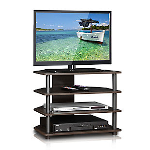 Turn-N-Tube Easy Assembly  4-Tier Petite TV Stand, , rollover