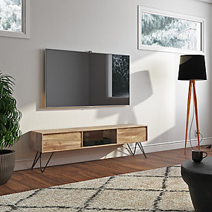 """Simpli Home Hunter Solid Mango Wood 68"""" Wide Industrial Contemporary TV Media Stand, , rollover"""