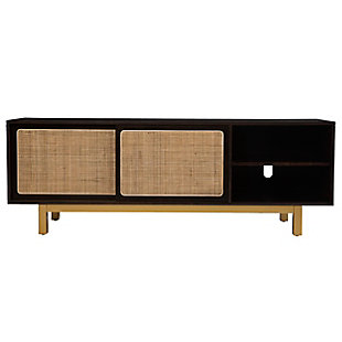 Southern Enterprises Nollyn Media Console with Sliding Door, , large