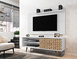 Manhattan Comfort Liberty 62.99 TV Stand and Panel in White, White, rollover