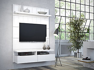 Manhattan Comfort Cabrini 1.2 Floating Wall Entertainment Center in White, , rollover