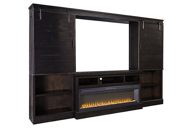Sharlowe 4-Piece Entertainment Center with Fireplace, , large