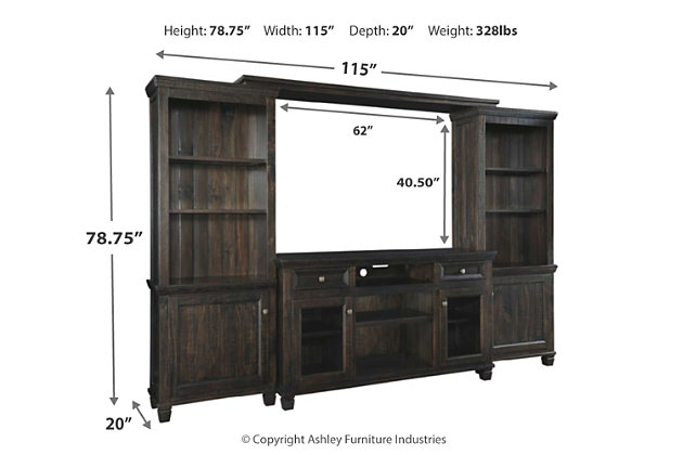 Townser 4-Piece Entertainment Center, , large