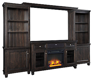 Townser Entertainment Center with Fireplace and Wireless Pairing Spe, , large