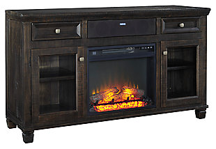 "Townser 62"" TV Stand with Fireplace and Wireless Pairing Speaker, , large"