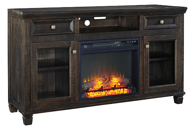 "Townser 62"" TV Stand with Fireplace, , large"
