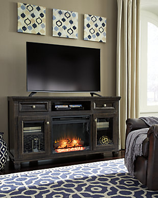"Townser 62"" TV Stand with Electric Fireplace, , rollover"