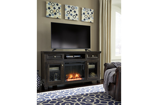 "Townser 62"" TV Stand with Electric Fireplace, , large"