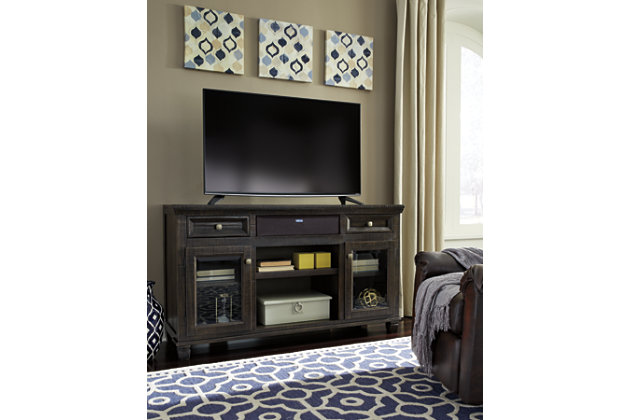 "Townser 62"" TV Stand with Wireless Pairing Speaker, , large"