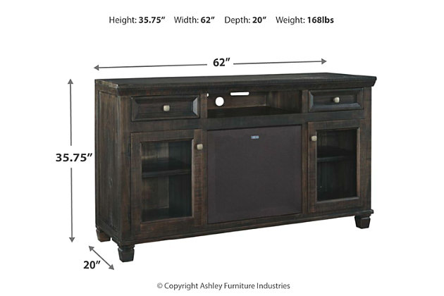 """Townser 62"""" TV Stand with Wireless Pairing Speaker, , large"""