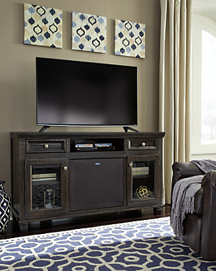 "Townser 62"" TV Stand with Wireless Pairing Speaker, , rollover"
