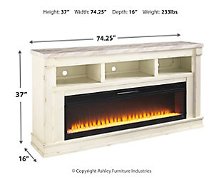 """Becklyn 74"""" TV Stand with Electric Fireplace, , large"""