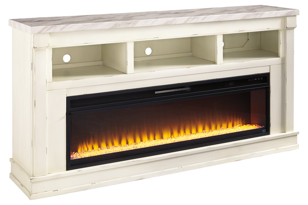 Becklyn 74 Tv Stand With Electric Fireplace Ashley Furniture