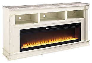 "Becklyn 74"" TV Stand with Electric Fireplace, , large"