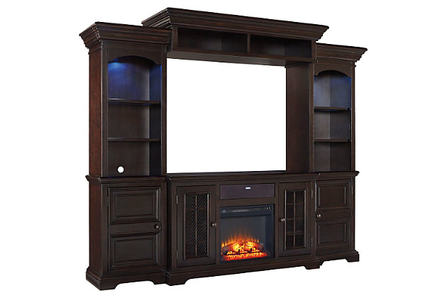 Willenburg 4-Piece Entertainment Center with Fireplace and Audio Option, , large