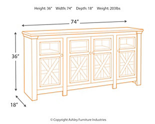 "Bolanburg 74"" TV Stand, , large"