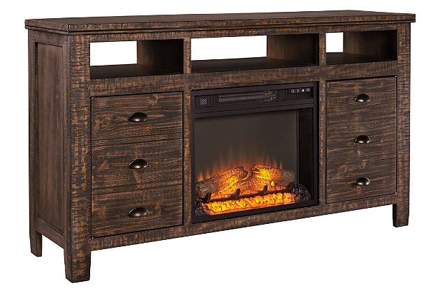 "Trudell 62"" TV Stand with Fireplace, , large"