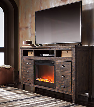 "Trudell 62"" TV Stand with Fireplace, , rollover"