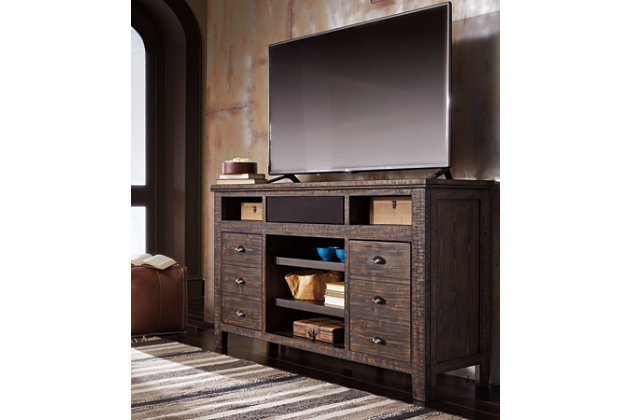 "Trudell 62"" TV Stand with Wireless Pairing Speaker, , large"
